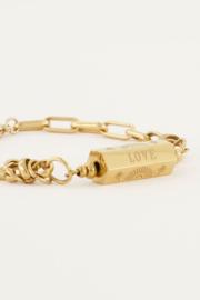 My Jewellery - Schakelarmband met love bedel