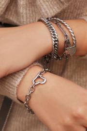My Jewellery - Schakelarmband met hartjes sluiting