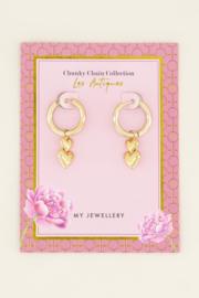 My Jewellery - Oorringen dubbel hartje