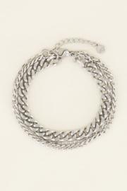 My Jewellery - Driedubbele schakelarmband