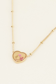 My Jewellery - Ketting wildflower hartje