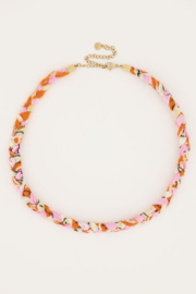 My Jewellery - Oranje gevlochten ketting