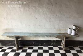 Oude Franse houten bank - VERKOCHT/ SOLD