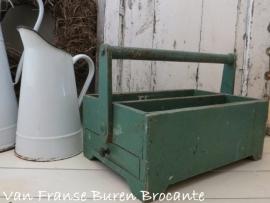 Frans houten gereedschapskistje / timmermanskistje - SOLD*