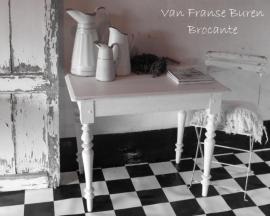 Frans houten wit tafeltje / sidetable - SOLD*