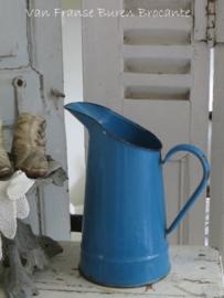 blauwe Franse emaillen waterkan - VERKOCHT/SOLD