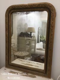 Antieke Franse spiegel Louis Philippe  19e eeuw- VERKOCHT/SOLD