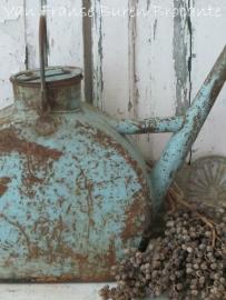 Frans blauwe oude oliekan - SOLD