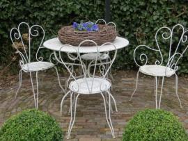 4 Franse tuinstoeltjes met tafel - SOLD*