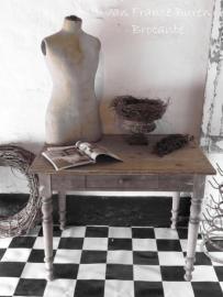 houten oude Franse tafel / sidetable - SOLD*