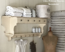 Solide oud Frans keukenrek met laatjes - regaal met laatjes - VERKOCHT/SOLD
