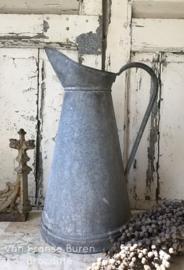 Oude Franse zinken kan - waterkan - lampetkan - VERKOCHT/SOLD