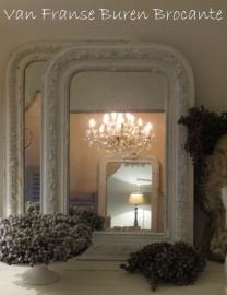 witte Franse spiegel- SOLD