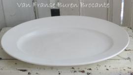 oude Franse ovale schaal aardewerk Opaque de Gien - VERKOCHT/SOLD