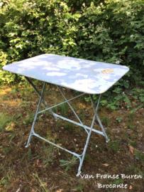 Oude Franse bistrotafel - terrastafel - tuintafel inklapbaar- VERKOCHT/SOLD