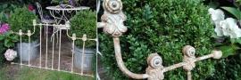 oud ( giet) ijzeren Frans rek - ornament - hekwerk