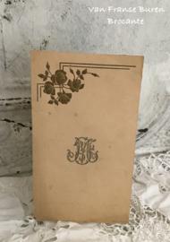 Oude Belgische spijskaart 1946 met monogram - menukaart - dischkaart.