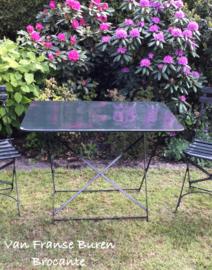 Oude Franse ijzeren tuintafel- bistrotafel - terrastafel inklapbaar- VERKOCHT/SOLD