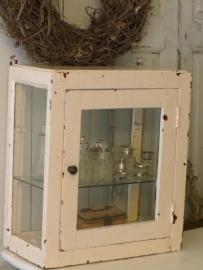 klein oud vitrinekastje - SOLD*