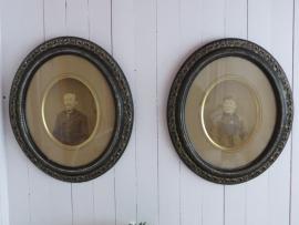 2  biedermeier portretlijsten