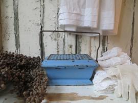 Frans blauw geëmailleerd gietijzeren stoofje - rechaud