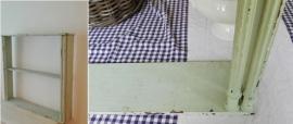 Frans  (hang-opzet) wandrek - keukenrek met 4 pilaren