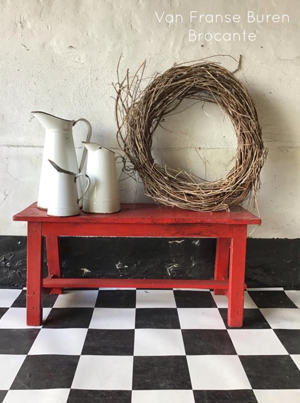 Oud Frans houten bankje -ONDER OPTIE T.H.
