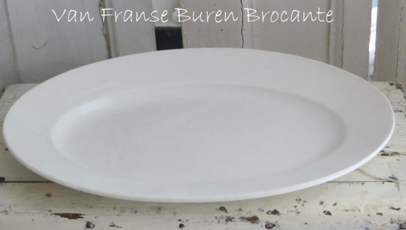 oude Franse ovale schaal aardewerk Opaque de Gien KK