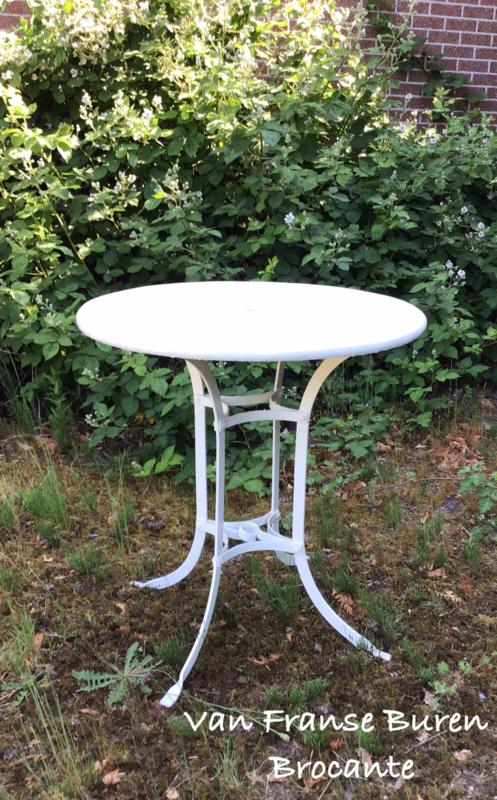 Oude Franse ronde tuintafel  - terrastafel - bistrotafel - tuintafeltje - VERKOCHT/SOLD
