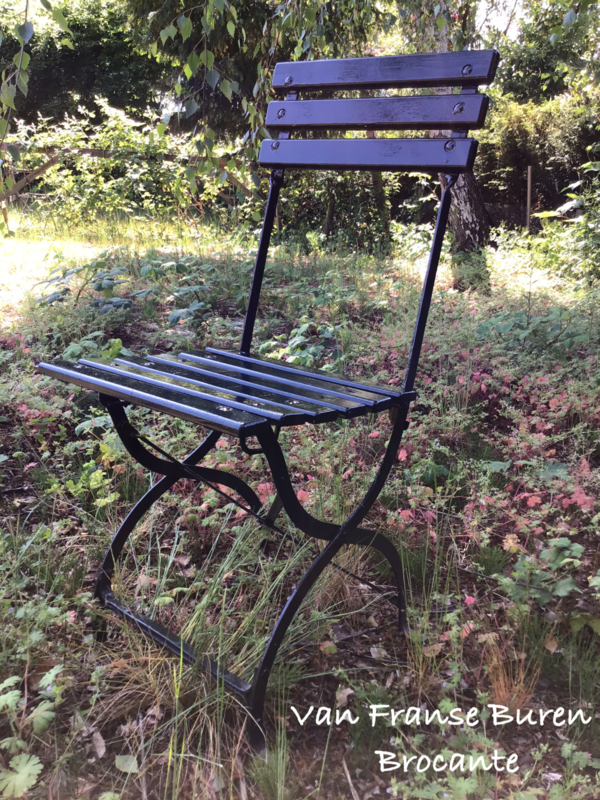 Franse bistrostoel - terrasstoeltje inklapbaar- tuinstoel