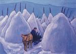 Winter in Murnauer Moos, Gabriele Münter