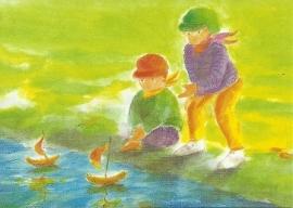Kinderen bij de beek, Johanna Schneider