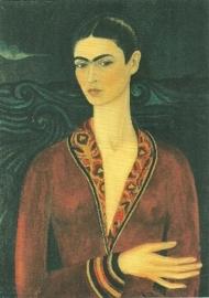 Zelfportret met fluwelen jurk, Frida Kahlo