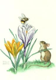 Bij op krokus met muis, Molly Brett