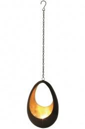Waxinelichthouder Hanger Drop, brons/goud