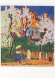 Huis met bloeiende bomen, Ernst Ludwig Kirchner
