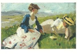 Twee vrouwen op de heuvel, Franz Marc