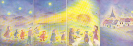 Advents lantaarn in vier delen, Bernadette Lips