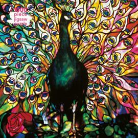 Puzzel 1000 stukjes Flametree, Displaying Peacock
