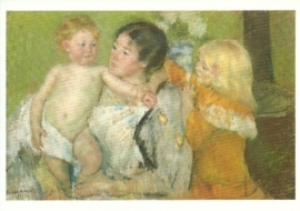 Na het bad, Mary Cassatt