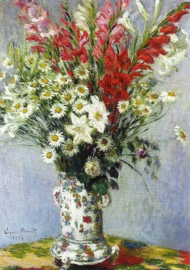 Vaas met bloemen, Claude Monet