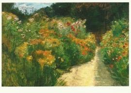 Bloemenzee in tuin bij Wannsee, Max Liebermann