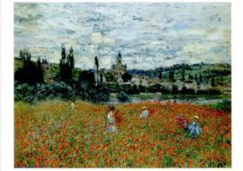 Klaprozen bij Vétheuil, Claude Monet