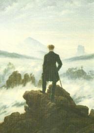 Wandelaar bij nevelzee, Caspar David Friedrich