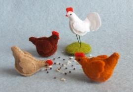 3 Kippen en een haan