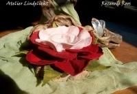 Waxine lichtje Rose/rode roos (zelfmaakpakketje)