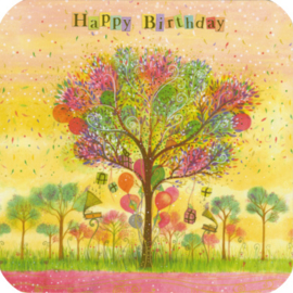Happy Birthday,  boom met geschenken, Jehanne Weyman
