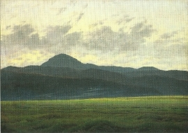 Berglandschap in Bohemen, Caspar David Friedrich