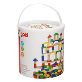 Blokkenset in ton, Goki (100 stuks) 2+