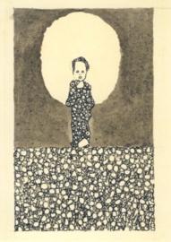 Kind met aureool in een bloemenveld, Egon Schiele